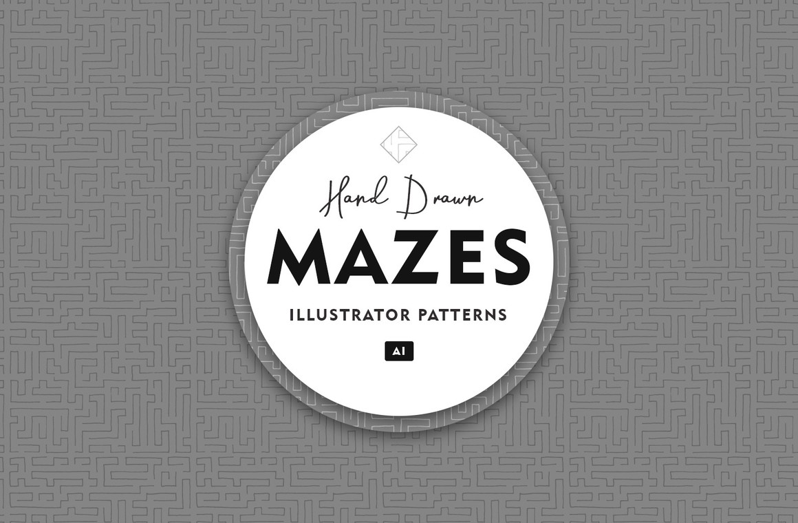Hand Drawn Mazes Illustrator Patterns
