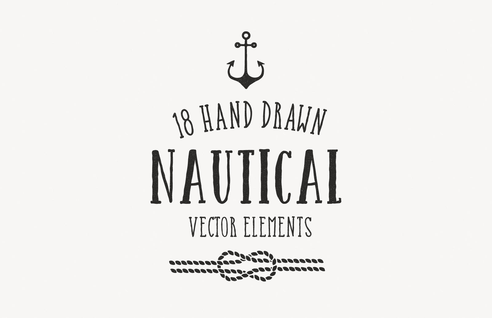 Hand Drawn Nautical Vectors