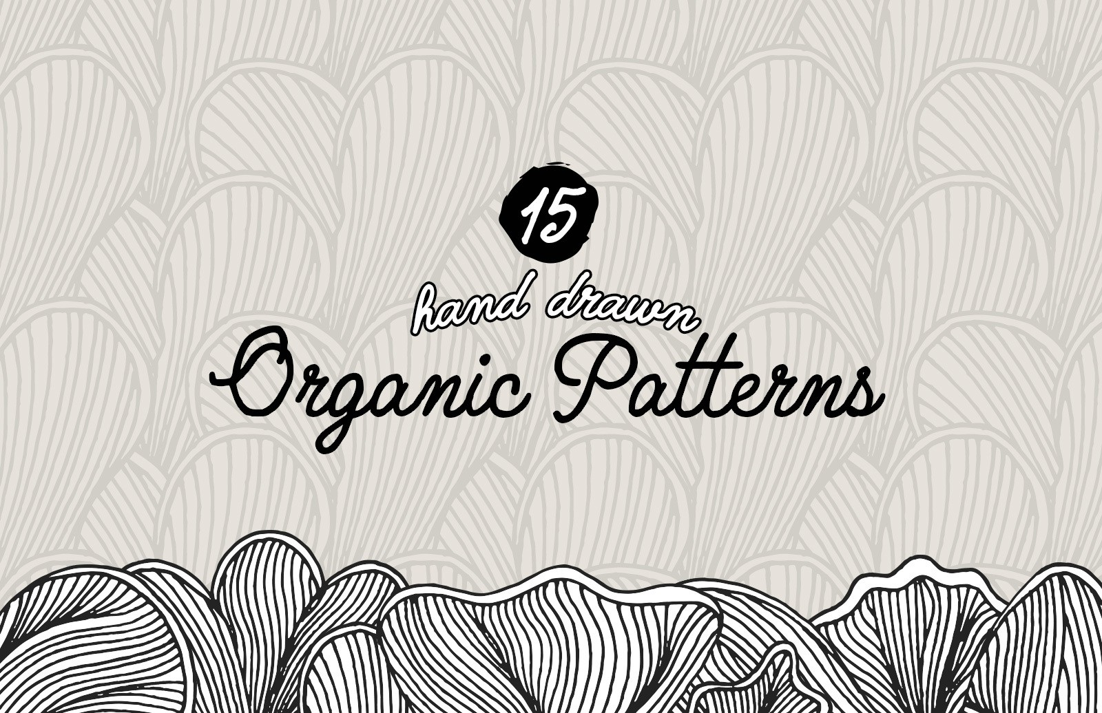 Hand Drawn Organic Patterns Preview 1
