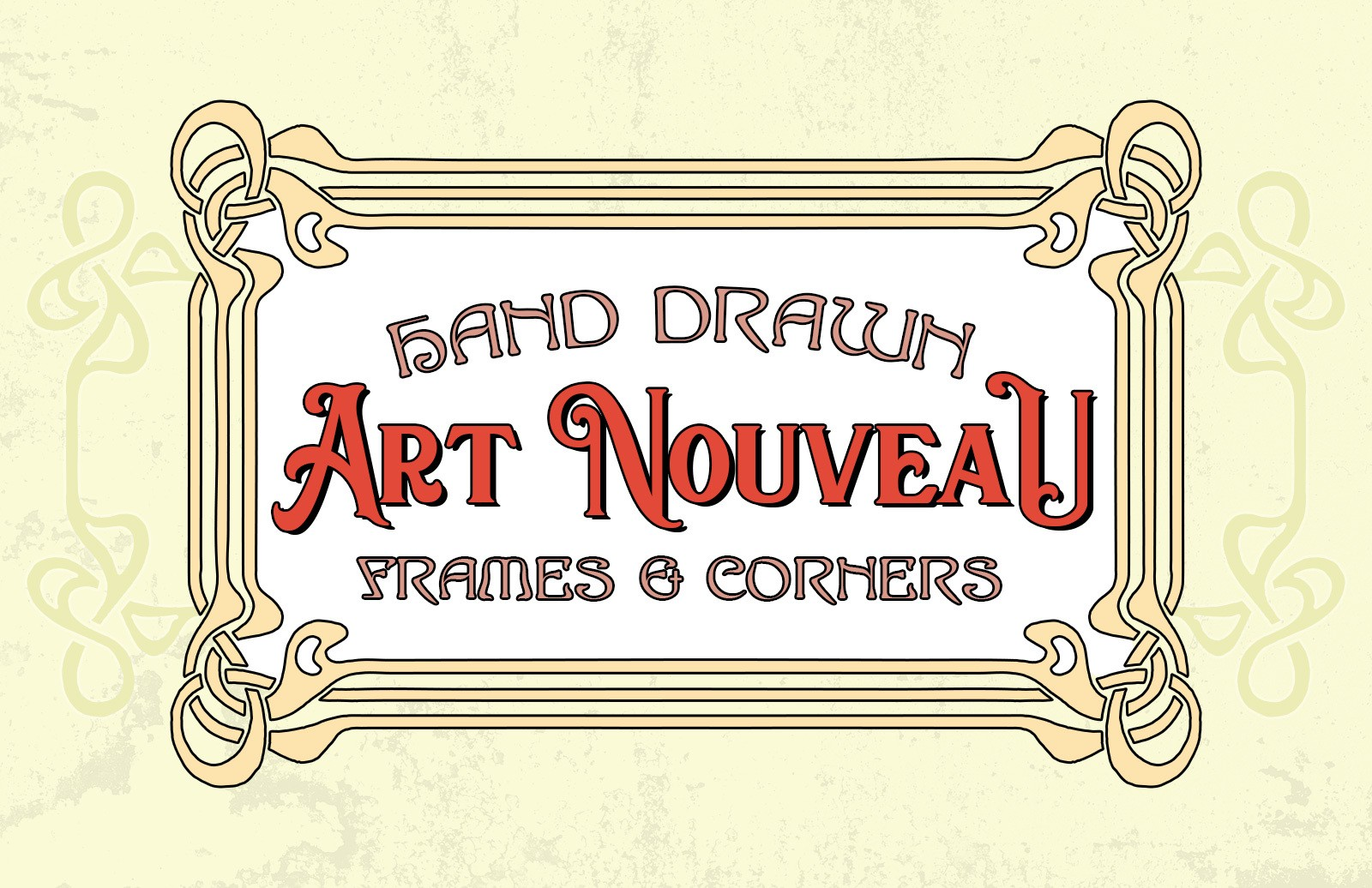 Hand Drawn Art Nouveau Frames And Corners Preview 1