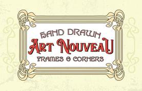 Hand Drawn Art Nouveau Frames and Corners
