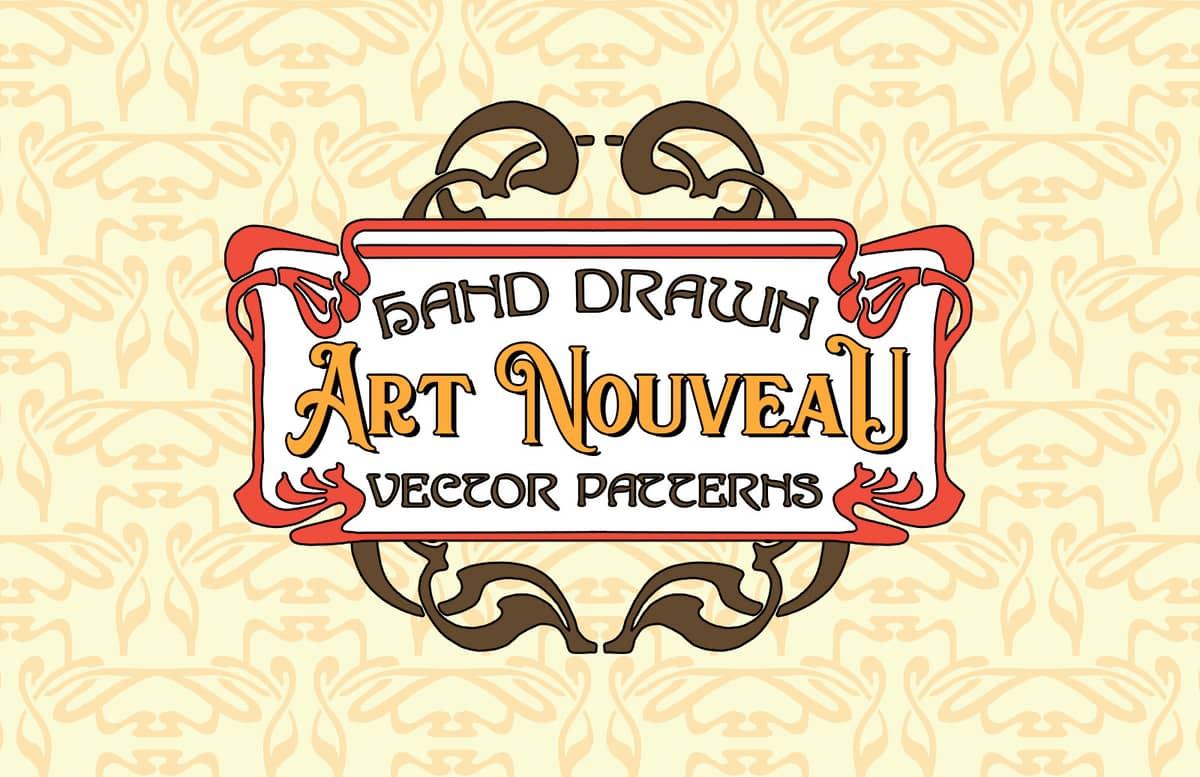 Hand Drawn Art Nouveau Vector Patterns Preview 1