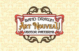 Hand Drawn Art Nouveau Vector Patterns