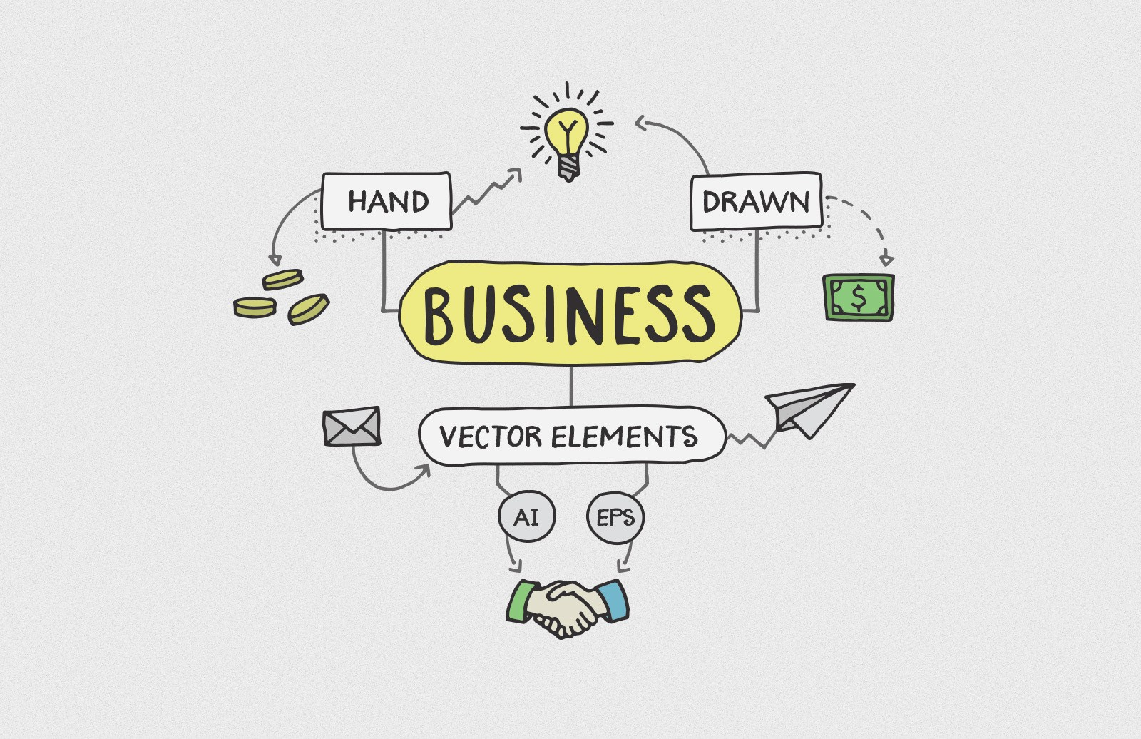 Hand Drawn Business Elements Preview 1