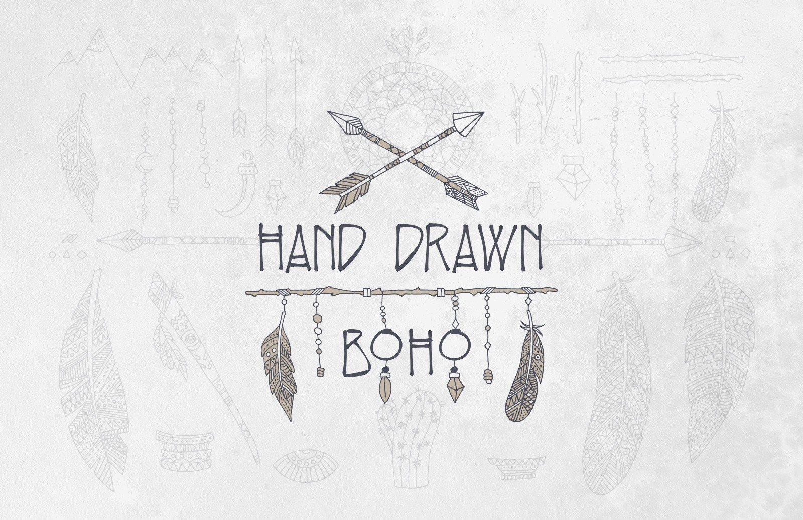Hand Drawn Boho Elements Preview 1