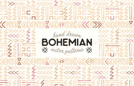 Hand Drawn Bohemian Vector Patterns