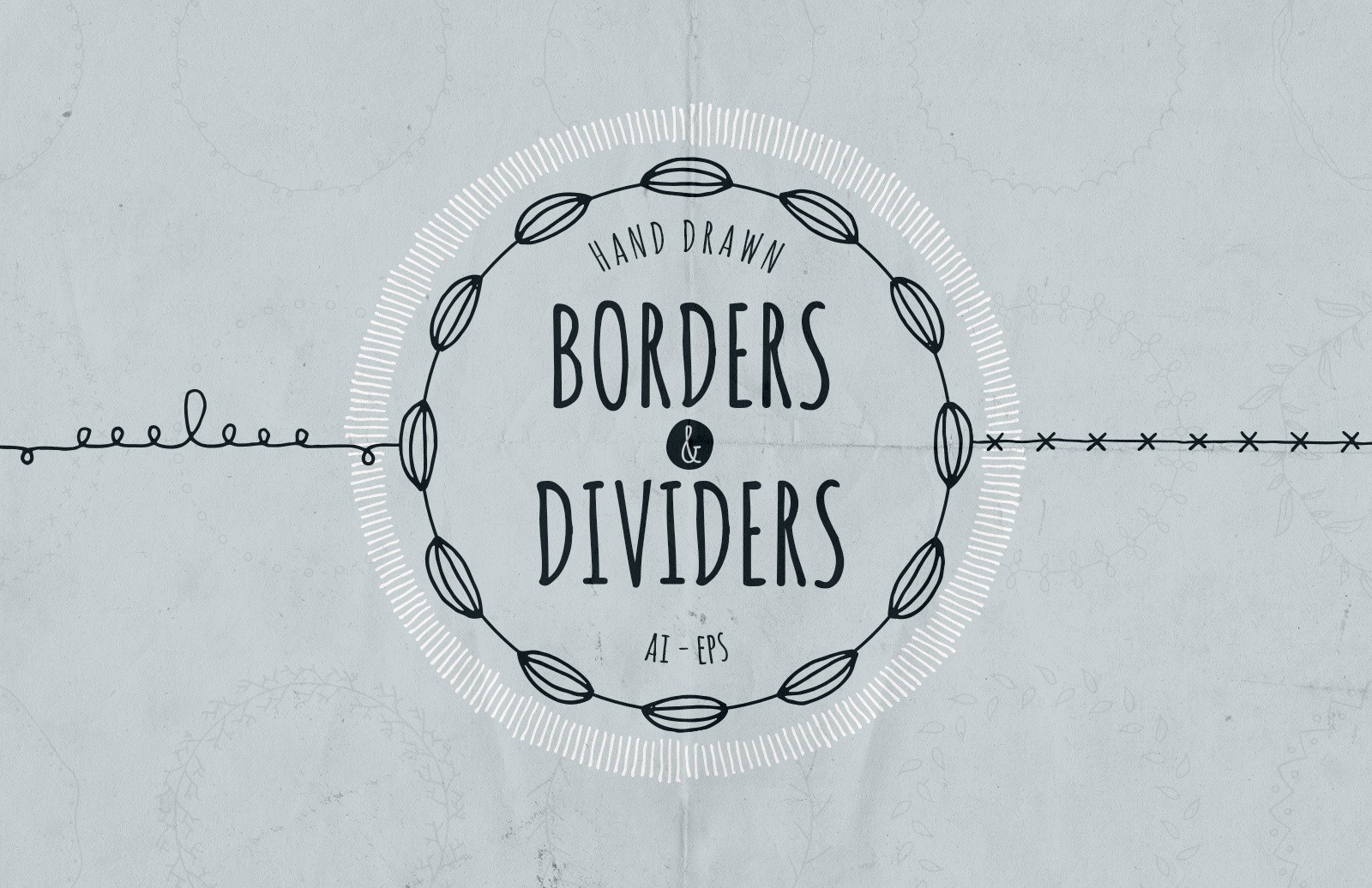 Hand Drawn Borders And Dividers Preview 1