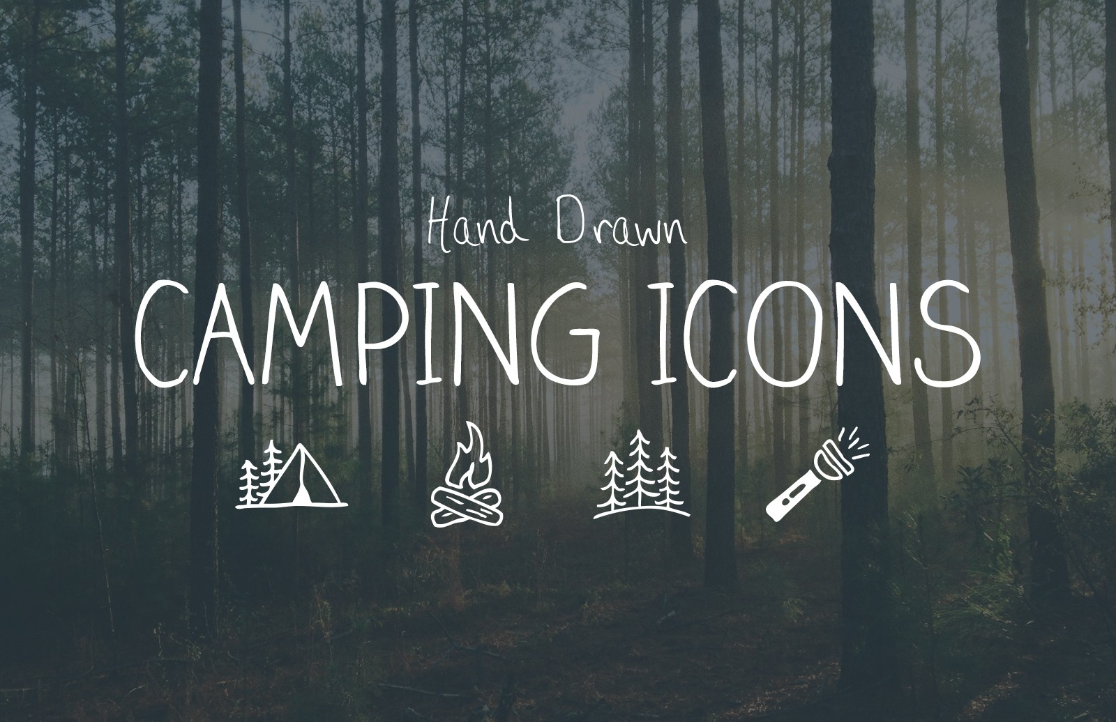 Hand Drawn Camping Vector Icons
