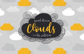 Hand Drawn Clouds Vector Patterns