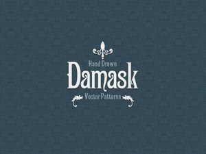 Hand Drawn Damask Vector Patterns 1
