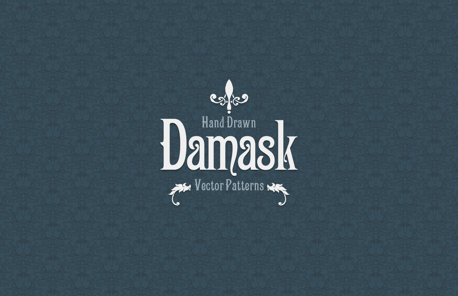 Hand Drawn Damask Vector Patterns Preview 1