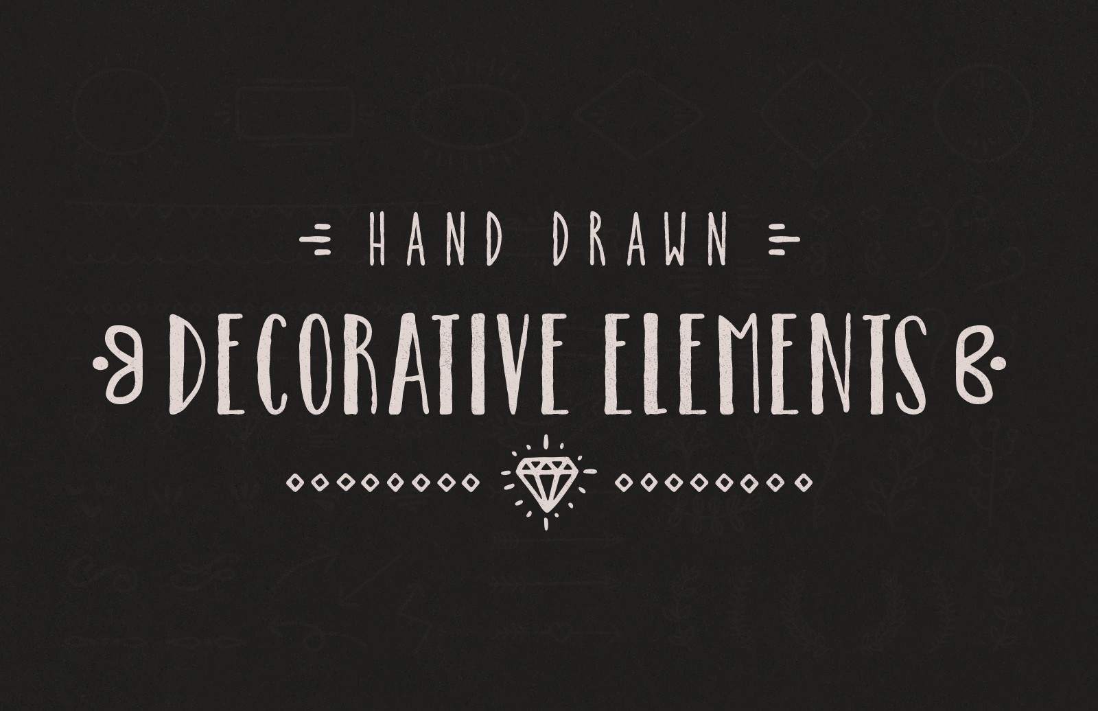 Large Hand Drawn Decorative Elements Preview 1