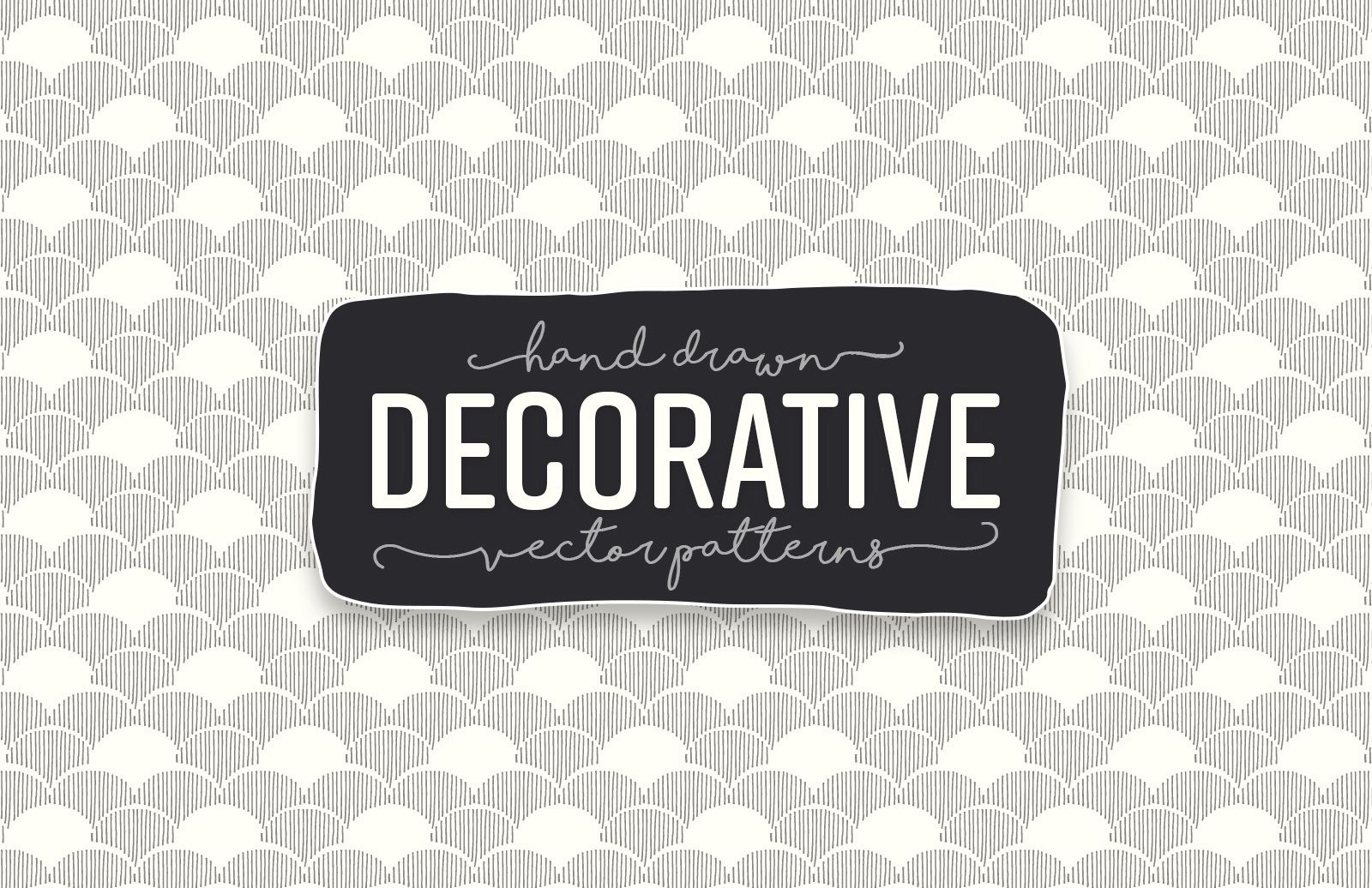 Hand Drawn Decorative Vector Paterns Preview 1