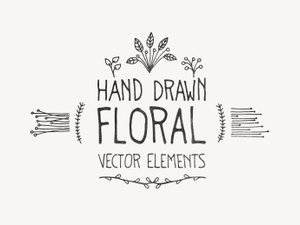 Hand Drawn Floral Vector Elements 1