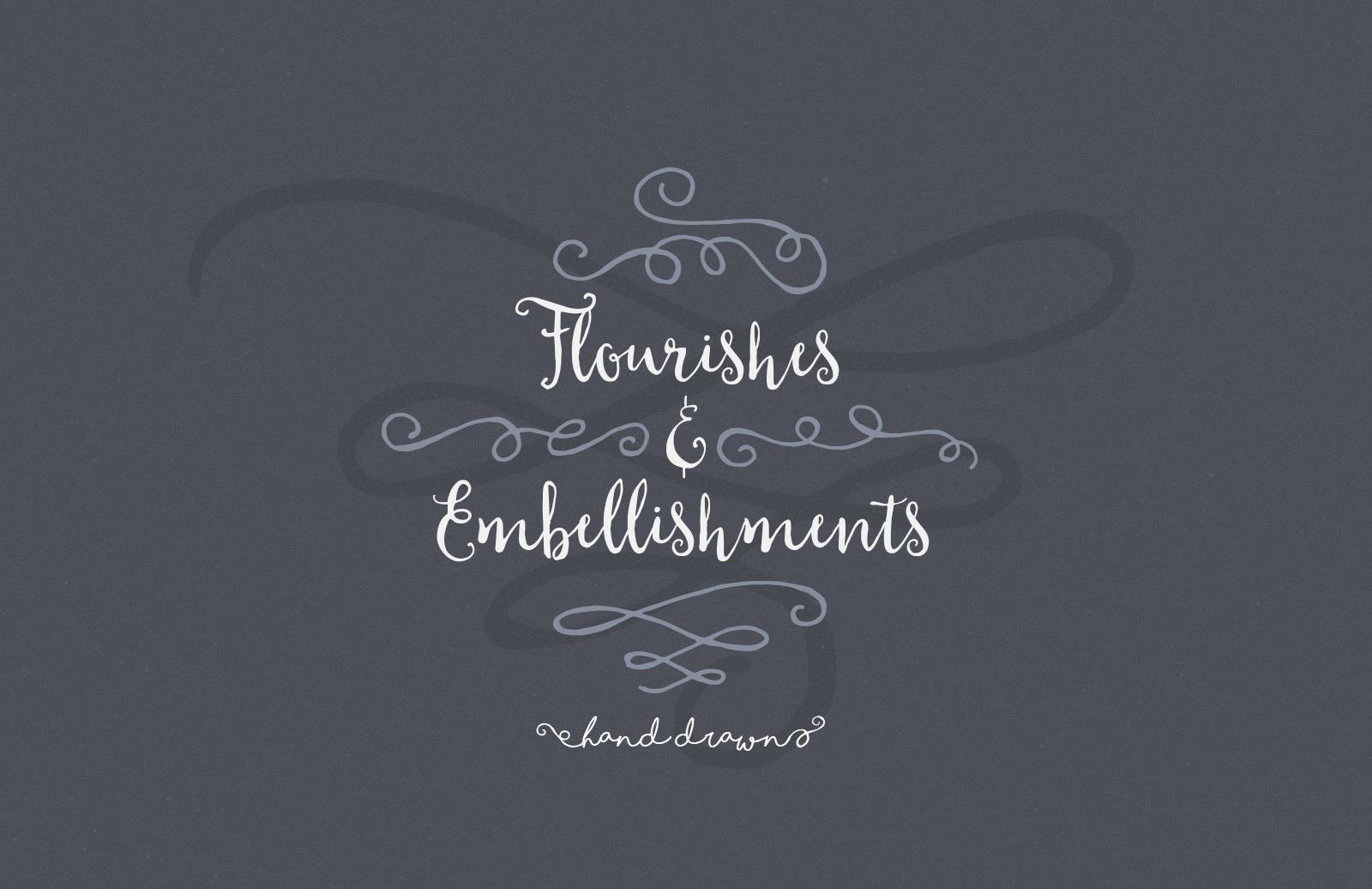 Hand Drawn Flourishes & Embellishments