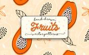 Hand Drawn Fruits Vector Patterns