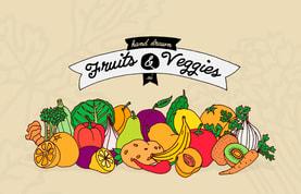 Hand Drawn Fruits & Veggies