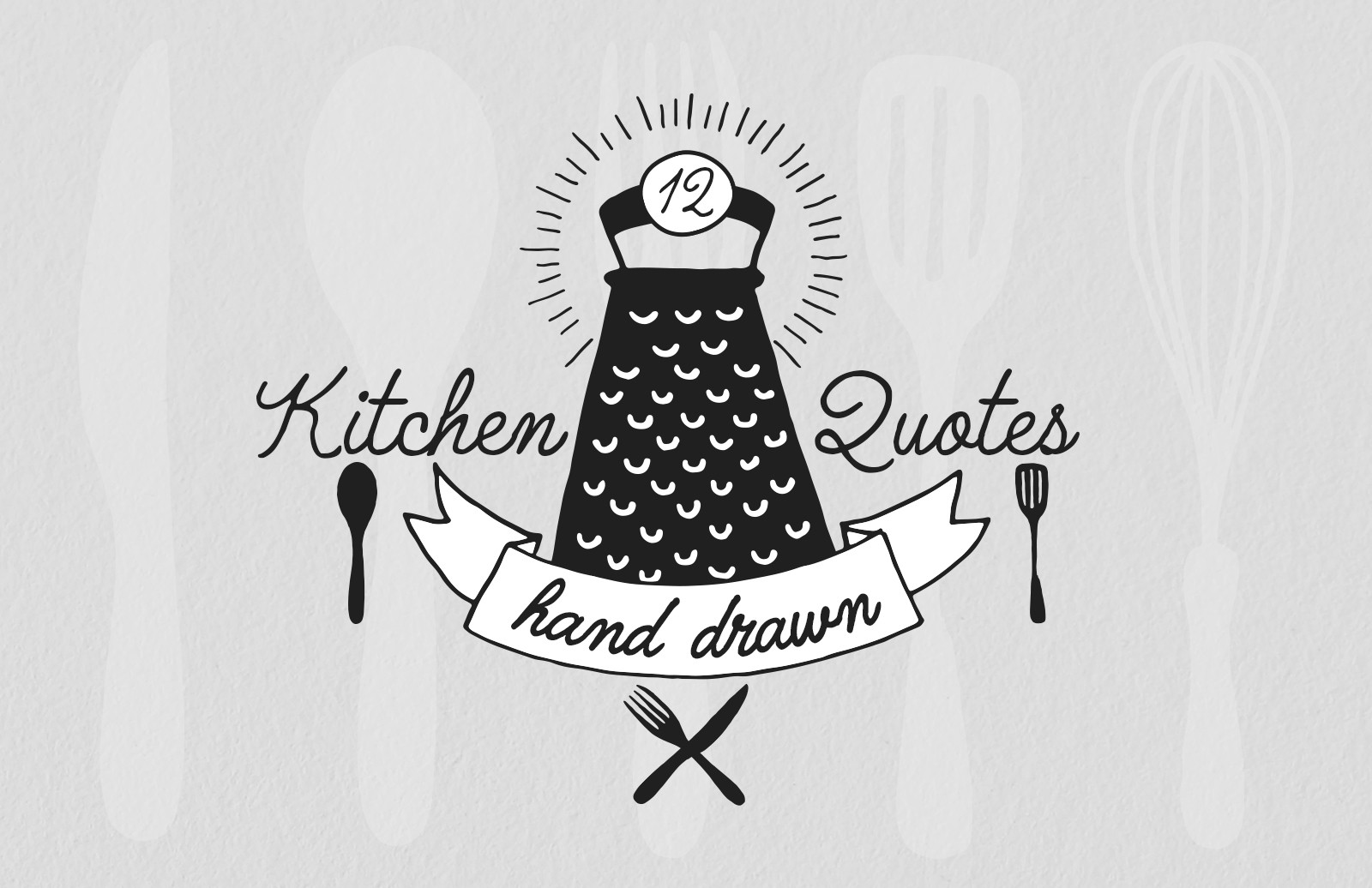 Hand Drawn Kitchen Quotes Preview 1