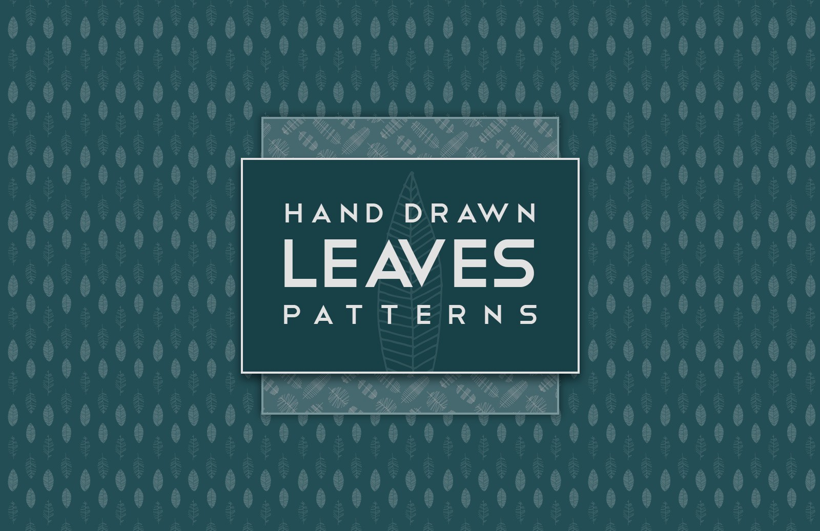 Hand Drawn Leaves Patterns Preview 1