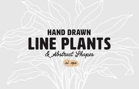 Hand Drawn Line Plants