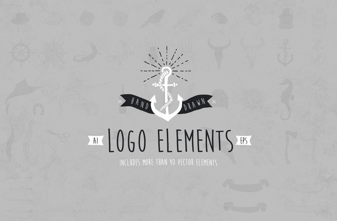 Hand Drawn Logo Elements Kit