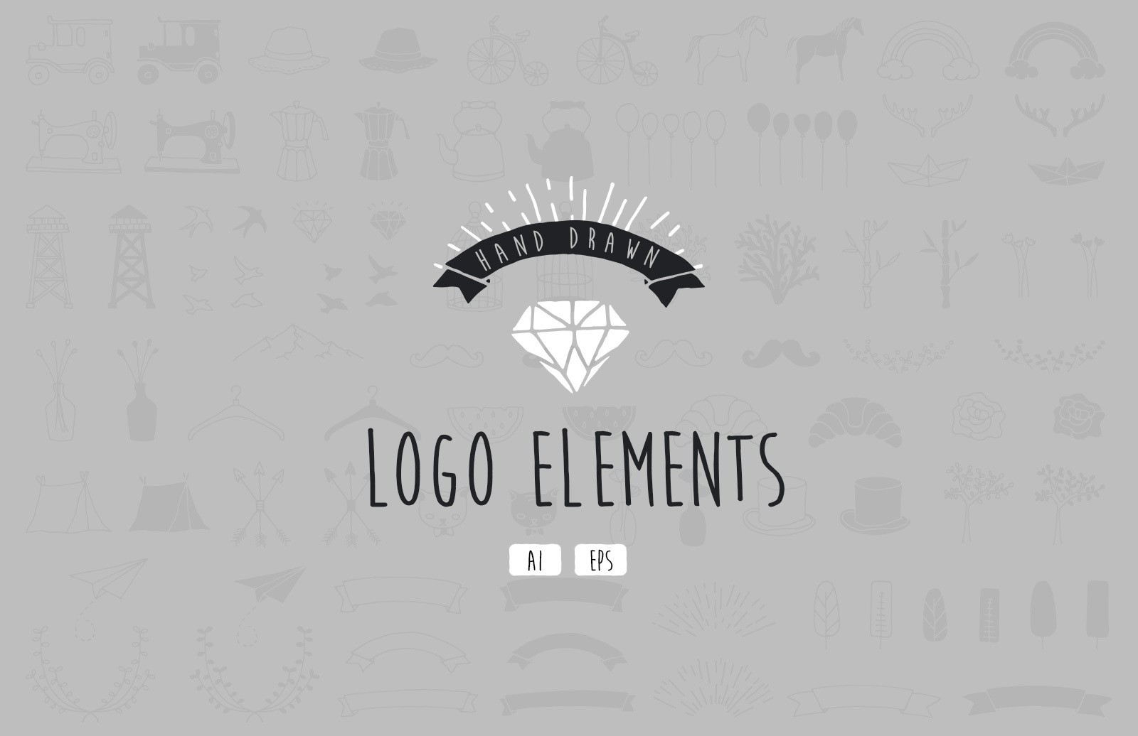 Hand Drawn Logo Elements Preview 1