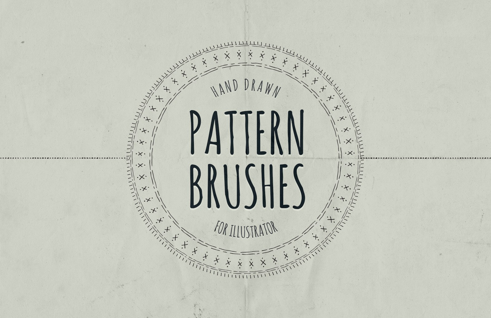 Hand Drawn Pattern Brushes Illustrator Preview 1