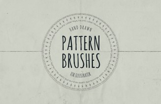 Hand Drawn Pattern Brushes - Illustrator