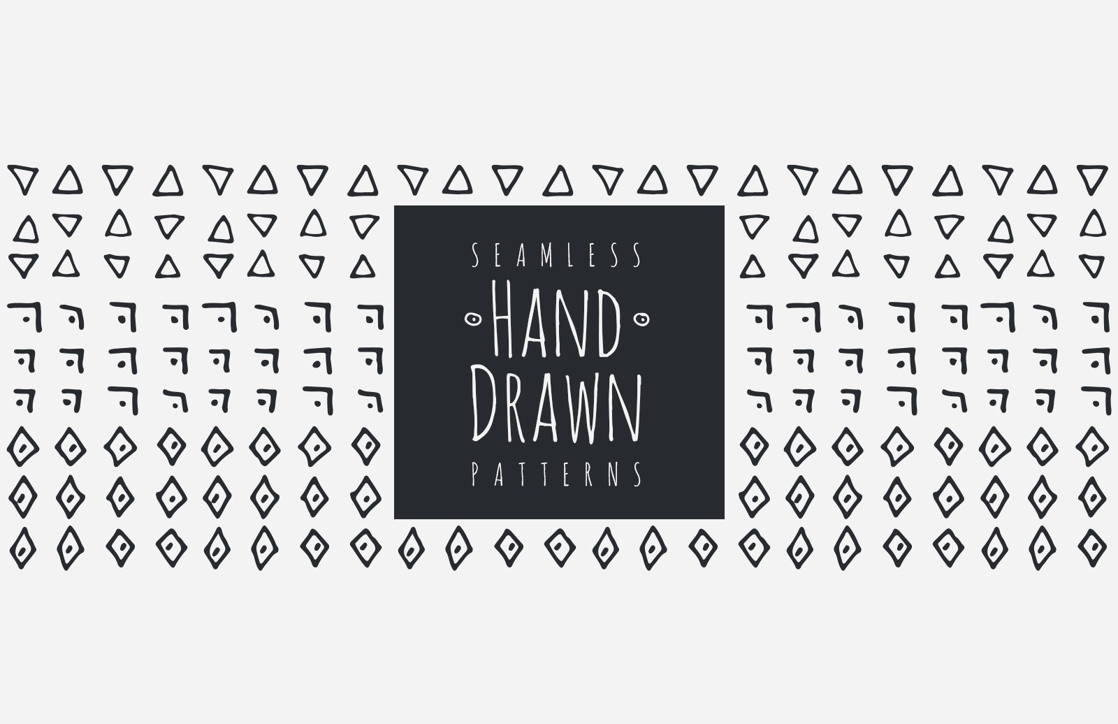 Large Hand Drawn Patterns Preview 1
