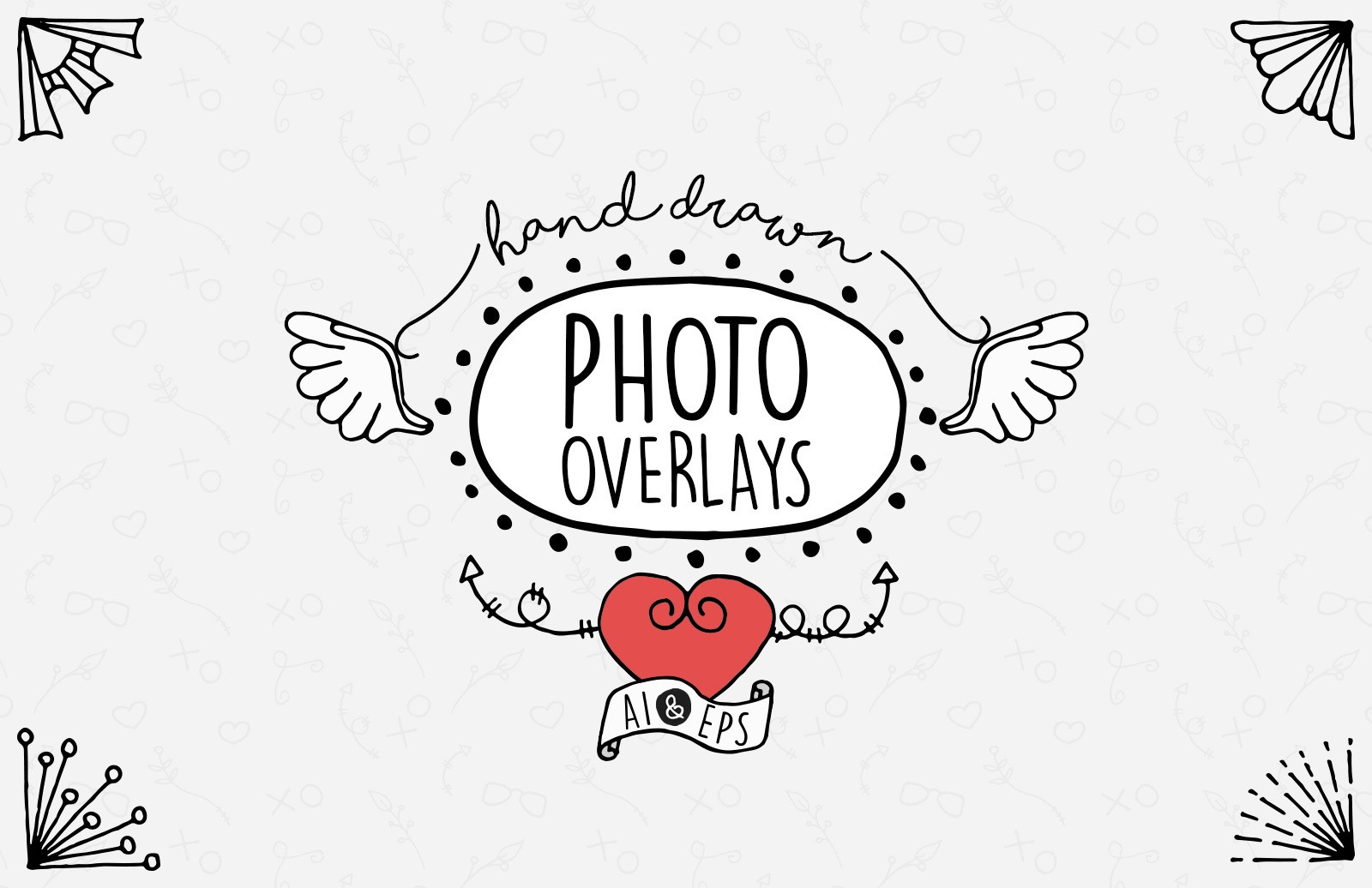 Hand Drawn Photo Overlays Preview 1