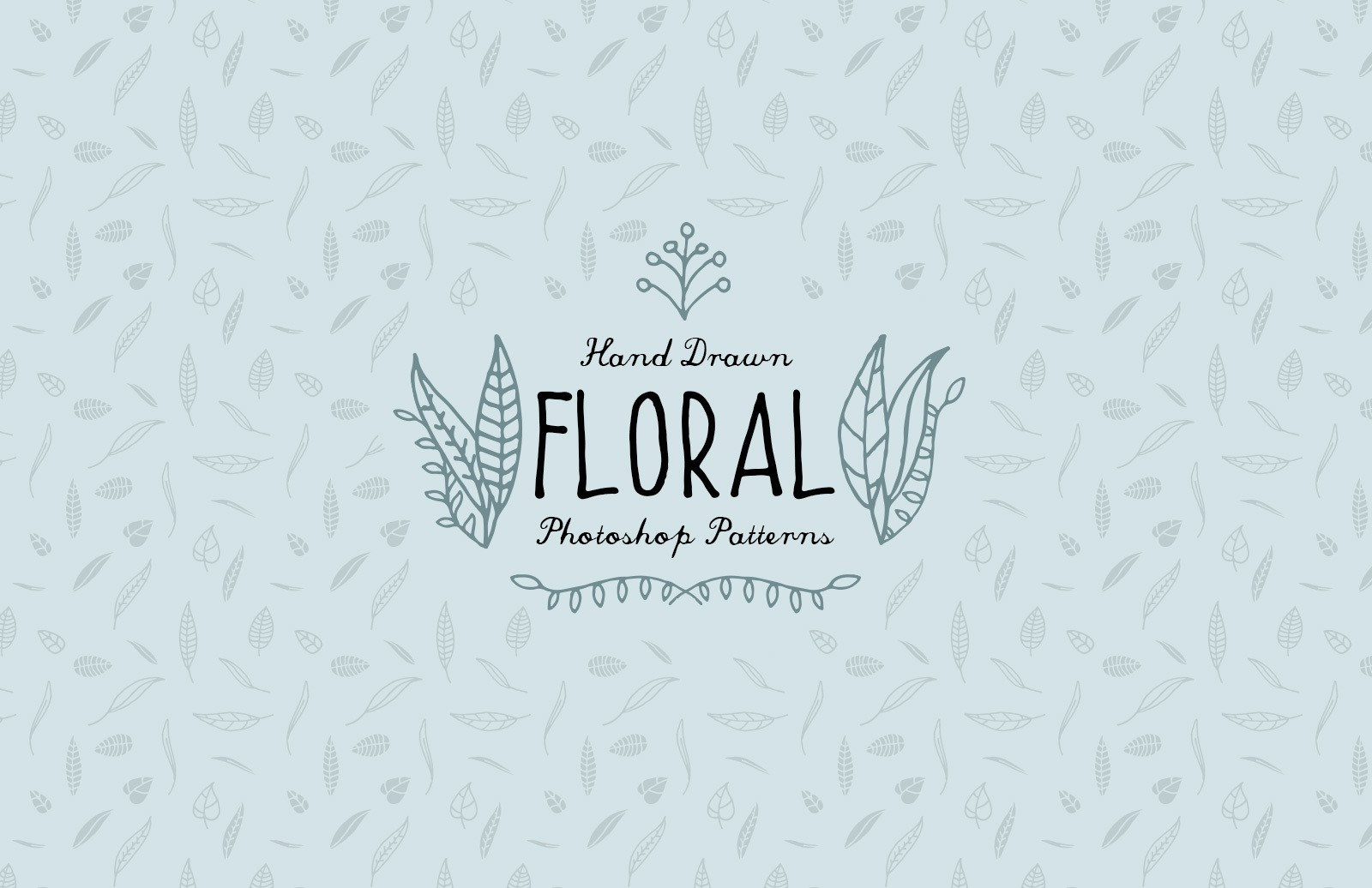 Hand Drawn Floral Photoshop Patterns
