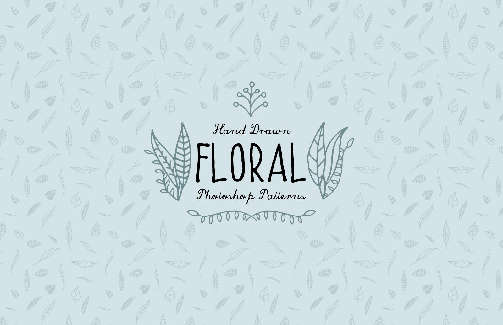 Hand Drawn Floral Photoshop Patterns