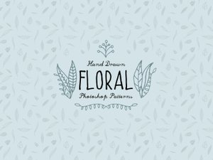 Hand Drawn Floral Photoshop Patterns 1
