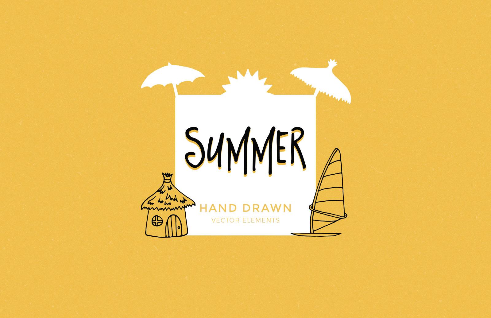 Hand Drawn Summer Elements