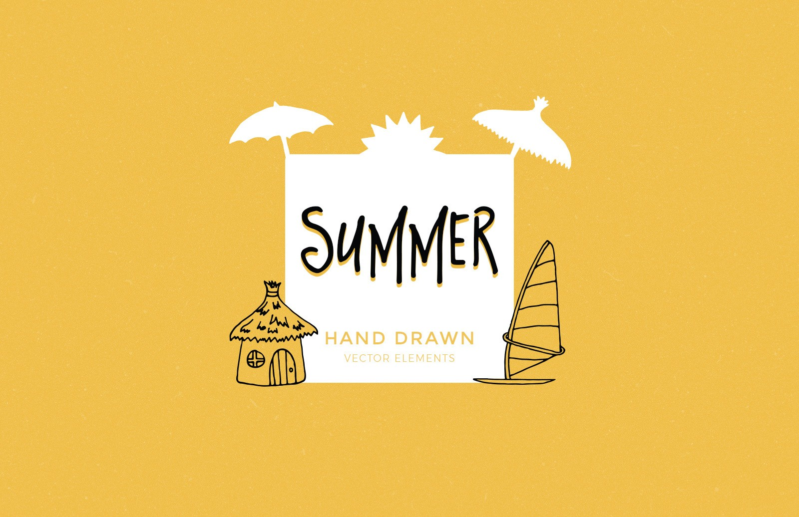 Hand Drawn Summer Elements Preview 1