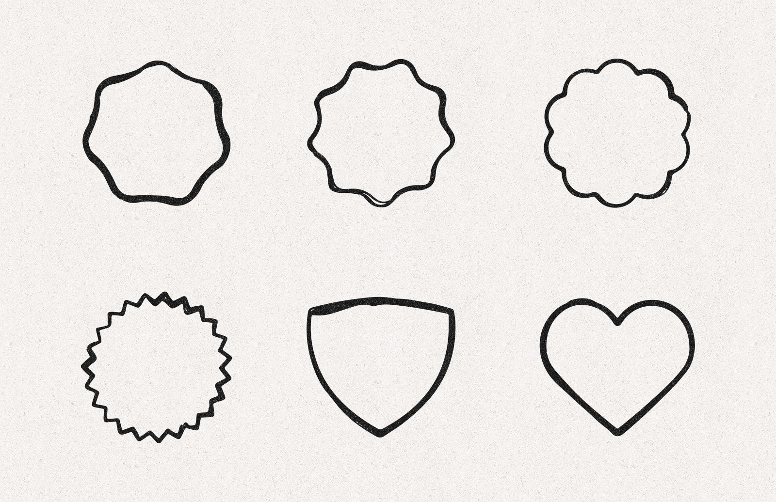 Hand Drawn Shape Borders Preview 4