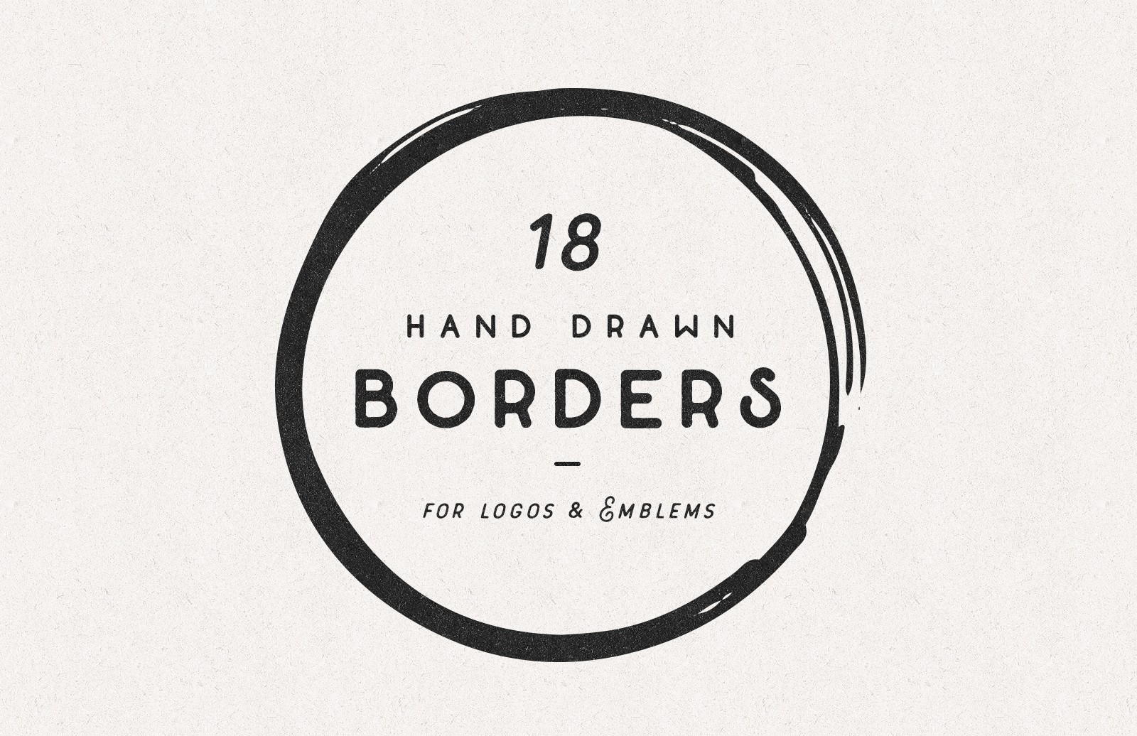 Large Hand Drawn Shape Borders Preview 1