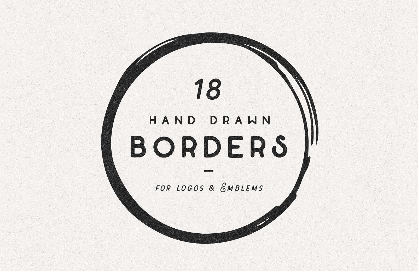 Hand Drawn Shape Borders