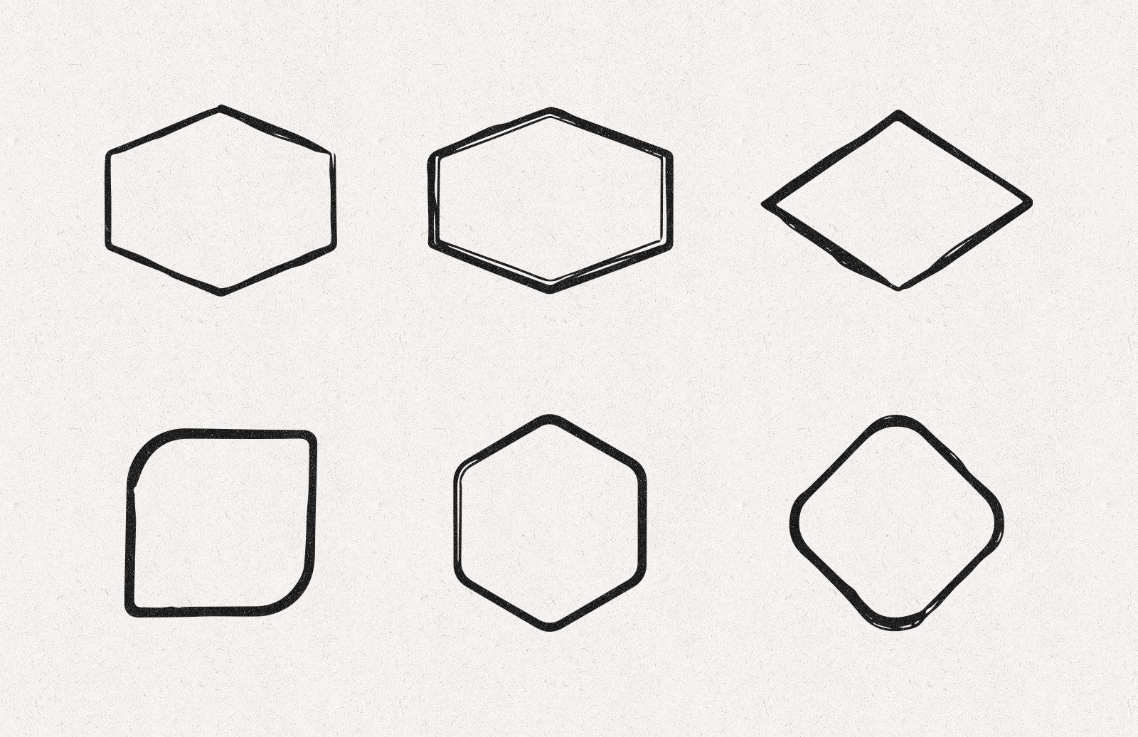 Large Hand Drawn Shape Borders Preview 3