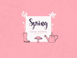 Hand Drawn Spring Graphics 1