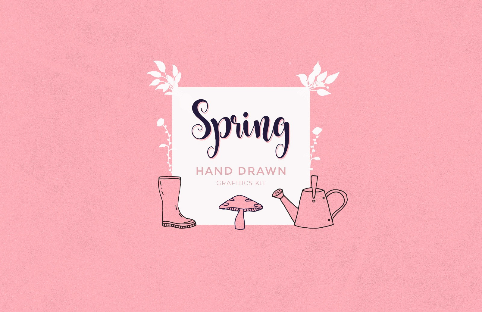 Hand Drawn Spring Graphics Preview 1