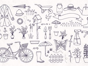 Hand Drawn Spring Graphics 2