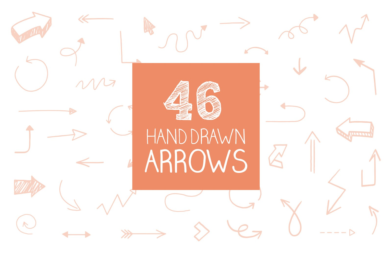 Large Hand  Drawn  Vector  Arrows  Preview 1