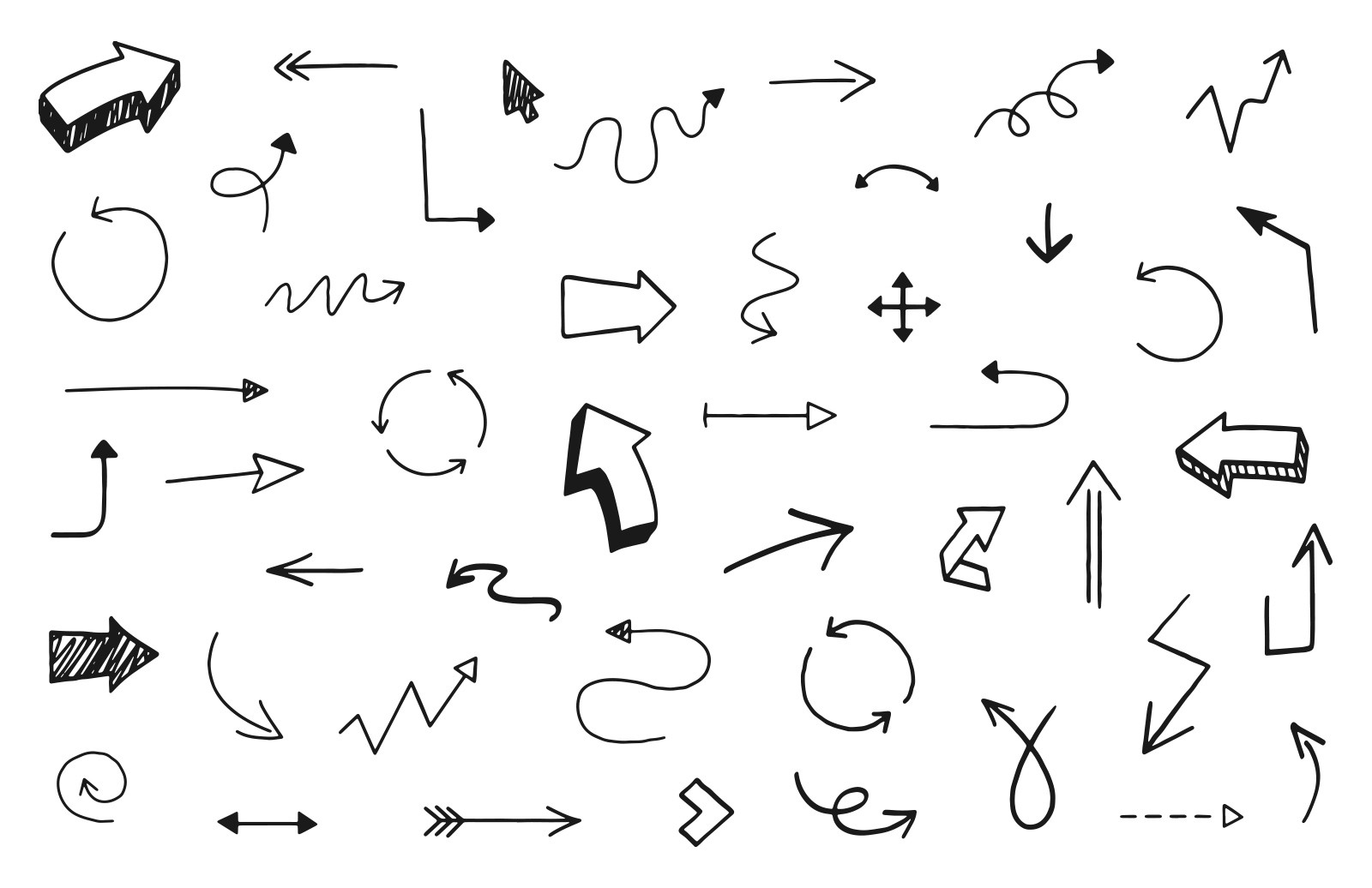 Hand Drawn Vector Arrows 2