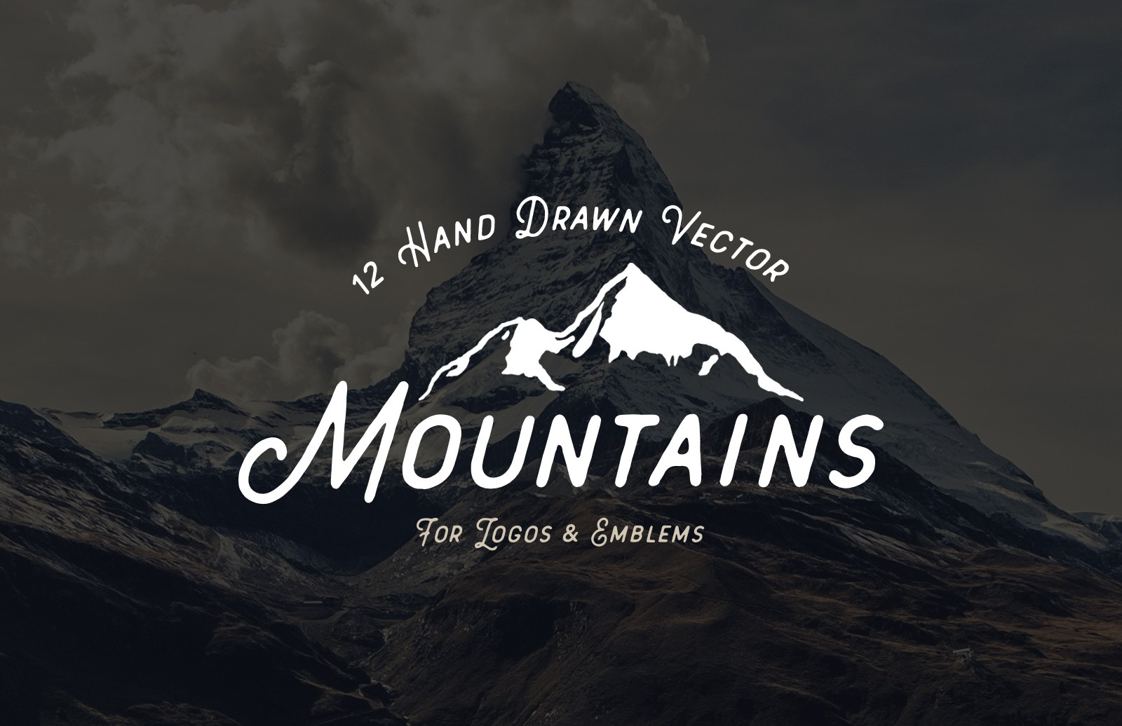 Hand  Drawn  Vector  Mountains  Preview 1