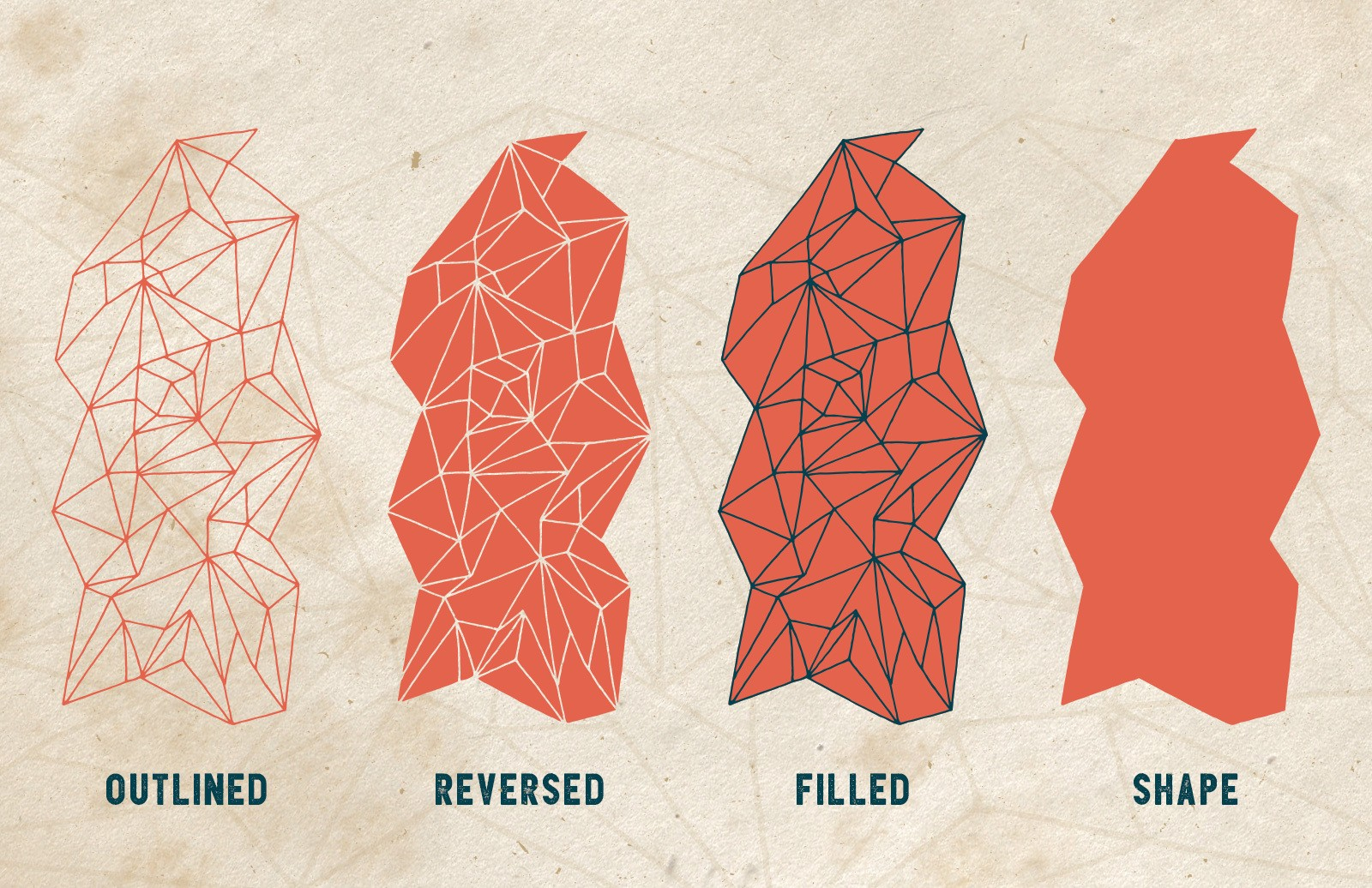 Hand Drawn Vector Polygons 2