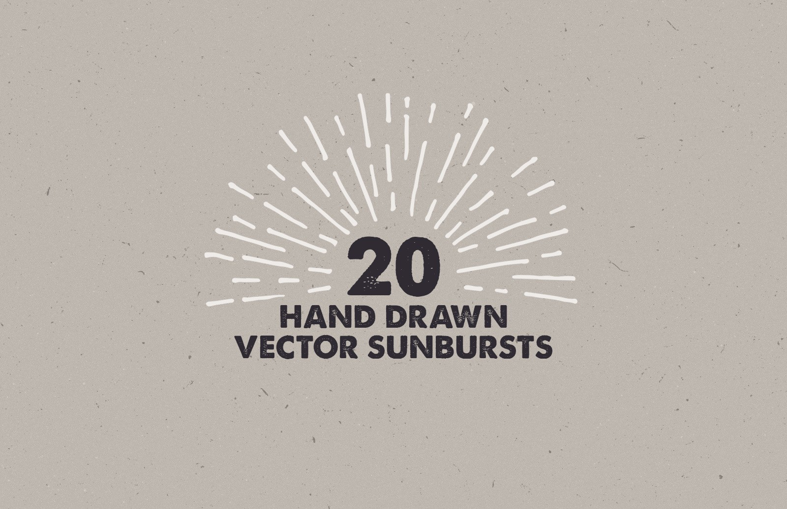 Hand Drawn Vector Sunbursts Preview 1
