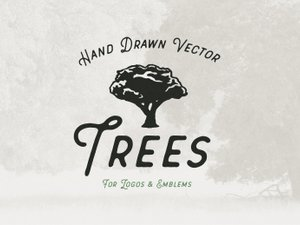 Hand Drawn Vector Trees 1