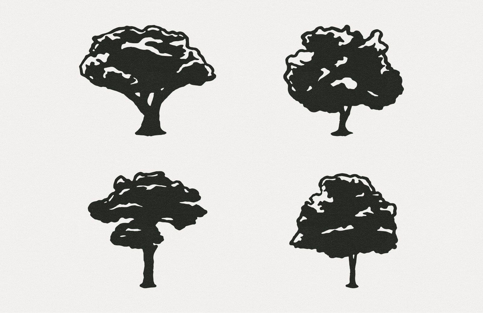 Large Hand Drawn Vector Trees Preview 2