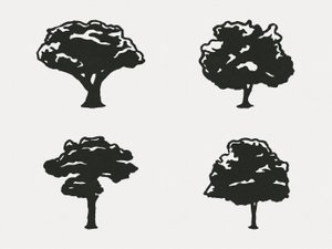 Hand Drawn Vector Trees 2